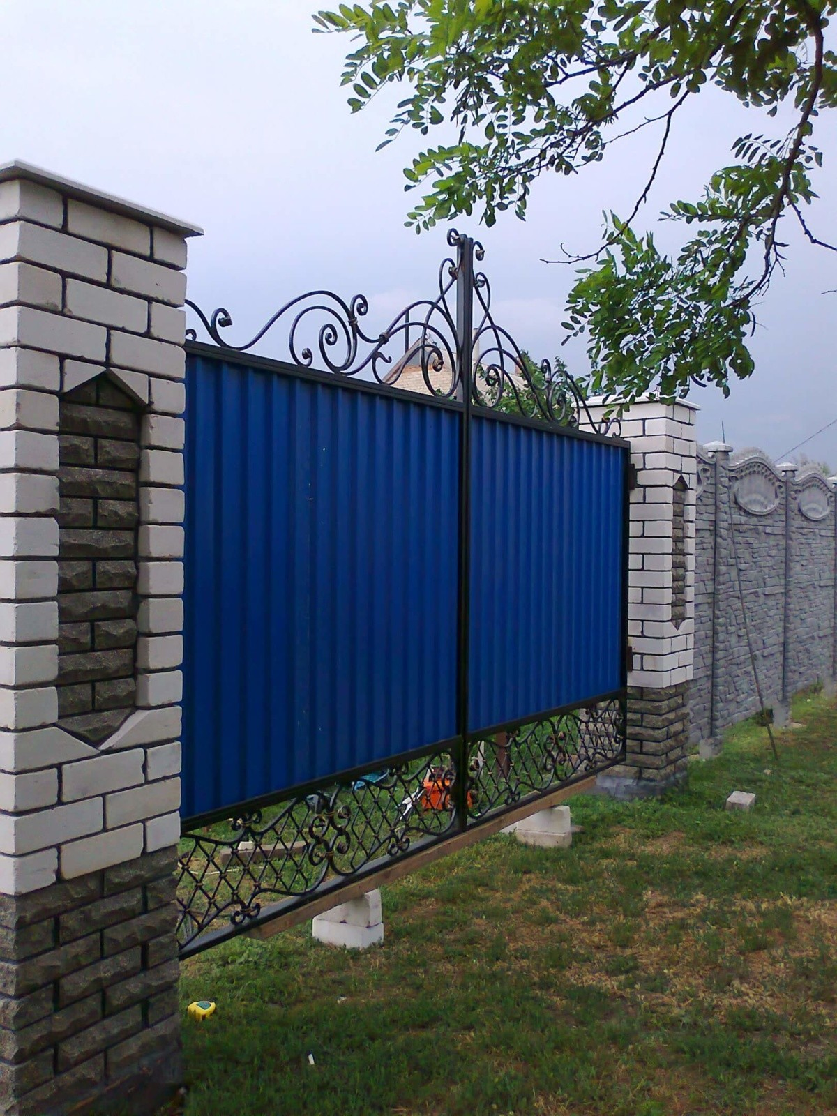 ворота из профнастила фото цена мелитополь