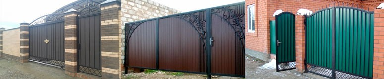 Ворота из профнастила в Мелитополе